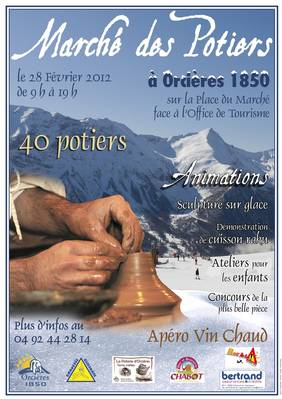 28 février 2012   Marché Potiers d'Orcières Merlette