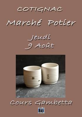 9 août 2012 | Marché Potier et exposition à Cotignac (83)