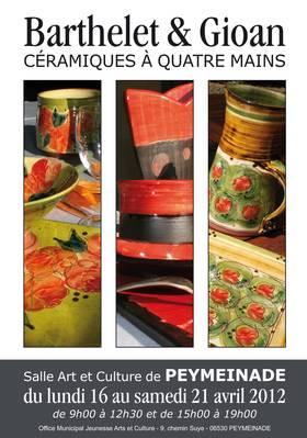 Du 16 au 21 avril 2012   Exposition Laurence Barthelet et Rolland Gioan à Peymeinade (06)