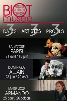 Du 21 avril au 11 novembre 2012  | 3 dates, 3 artistes céramistes, 3 profils à Biot (06)