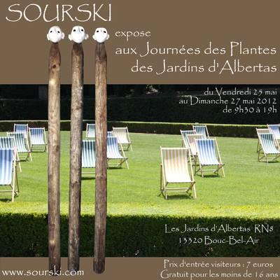 Du 25 mai au 27 mai 2012 | Sourski expose dans les Jardins d'Albertas à Bouc-Bel-Air (13)