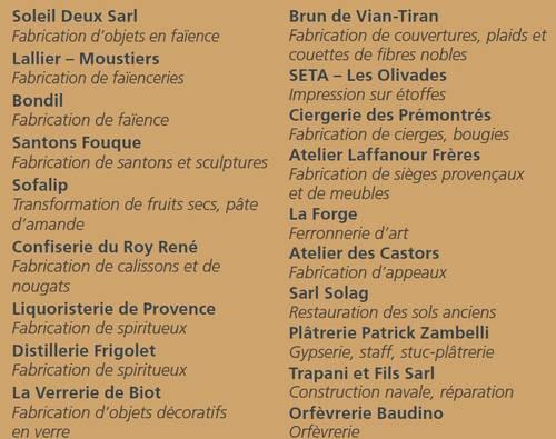 Du 28 juin au 30 août 2012 | Exposition de 20 entreprises du patrimoine vivant à Avignon (84)