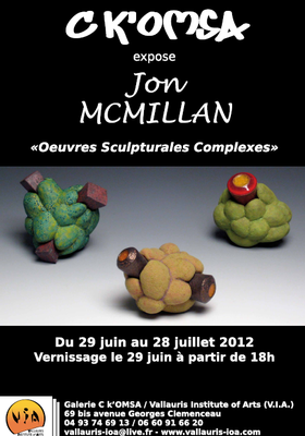 Du 29 juin au 28 juillet 2012 | Exposition Jon Mc Millan à Vallauris