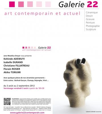 Du 3 août au 2 sept. 2012 | Exposition de sculptures céramiques à Coustelet (84)