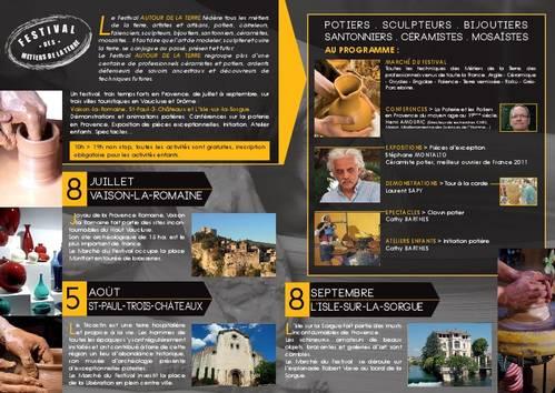 5 août 2012 | Marché Potier et festival Autour de la Terre à Saint Paul Les Trois Châteaux