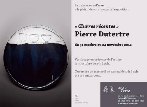 Du 31 oct au 24 nov 2012 | Exposition de Pierre Dutertre à Paris (75)