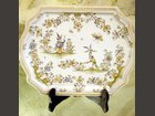 Plat messager louis XV décor Olérys LE VAISSELIER - MICHELE BLANC - Fabricant à - Objets décoration