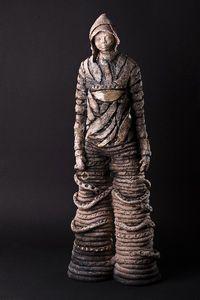 Sculpture céramique raku