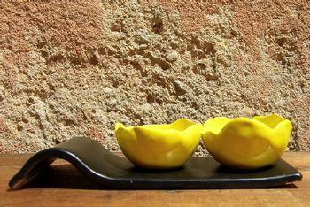 Présentoir épices, jaune
