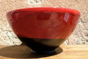 Saladier rouge et noir