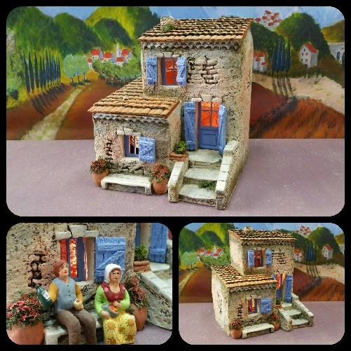 une maison de village atelier de fanny fabricant santons et cr ches prides activargile. Black Bedroom Furniture Sets. Home Design Ideas