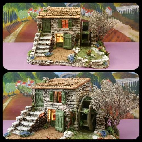 le moulin eau atelier de fanny fabricant santons et cr ches prides activargile provence. Black Bedroom Furniture Sets. Home Design Ideas