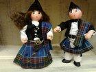 Couple écossais LES CENT TONS DE MAMIE - Fabricant à - Santons et Crèches