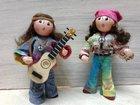 Couple hippies LES CENT TONS DE MAMIE - Fabricant à - Santons et Crèches