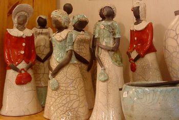 sculptures raku