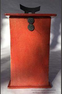 "Boîte ""Maison"" raku rouge"