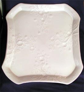 Plat murier émail blanc stannifère