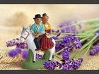 Le couple à cheval SANTONS ESCOFFIER - Fabricant à - Santons et Crèches