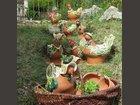 Poules au jardin L'ATELIER DU MILLE PATTES - Fabricant à - Jarre et poterie de jardin