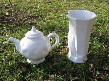 Théière et vase