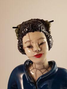 Raku : Japonaise (détail visage)