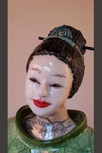 Raku : visage d'une japonaise