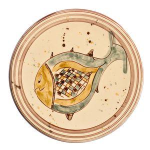 Tourne omelette décoré poisson