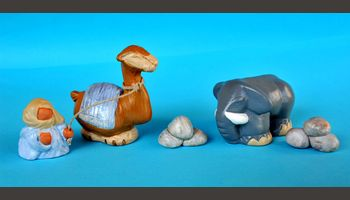 Bédouin, dromadaire, éléphant