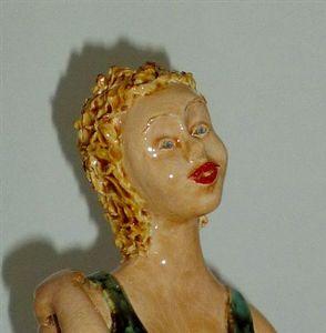 Visage (détail d'une sculpture)