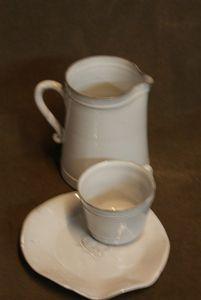 Bastide Pot à lait et tasse à café