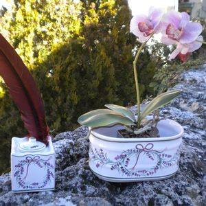 Jardinière et encrier lavande