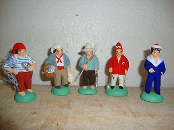 marins, bagnards et pêcheurs, santons 6 cm