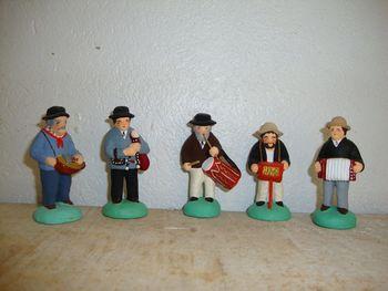 les musiciens, santons 6 cm