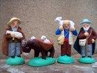 les bergers, santons 6 cm SANTONS LAGRANGE - Fabricant à - Santons et Crèches