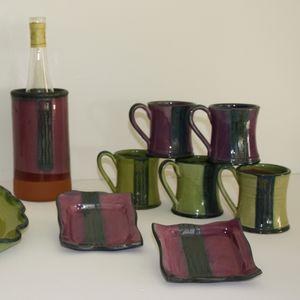 Plat à tarte - Mug - Brique à vin - Vide poche
