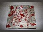Assiette creme-rouge ATELIER LE CRABE BLEU - Fabricant à - Arts de la table et culinaire