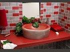 Salle de bain gris-rouge CARRELAGES BOUTAL - Fabricant à - Architecture - Eléments décoration