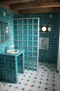 Salle debain et décor lys-turquoise