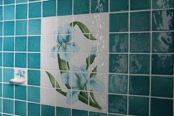 Carrelage salle de bain, décor