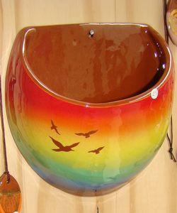 Autre vase mural multicolore